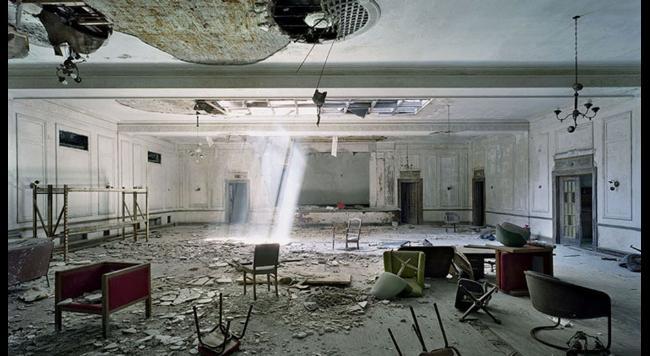 opustene priestory spolocenska miestnost Detroit