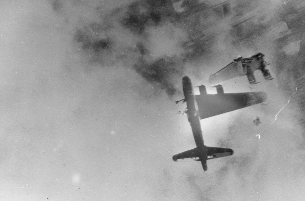 zostreleny bombarder