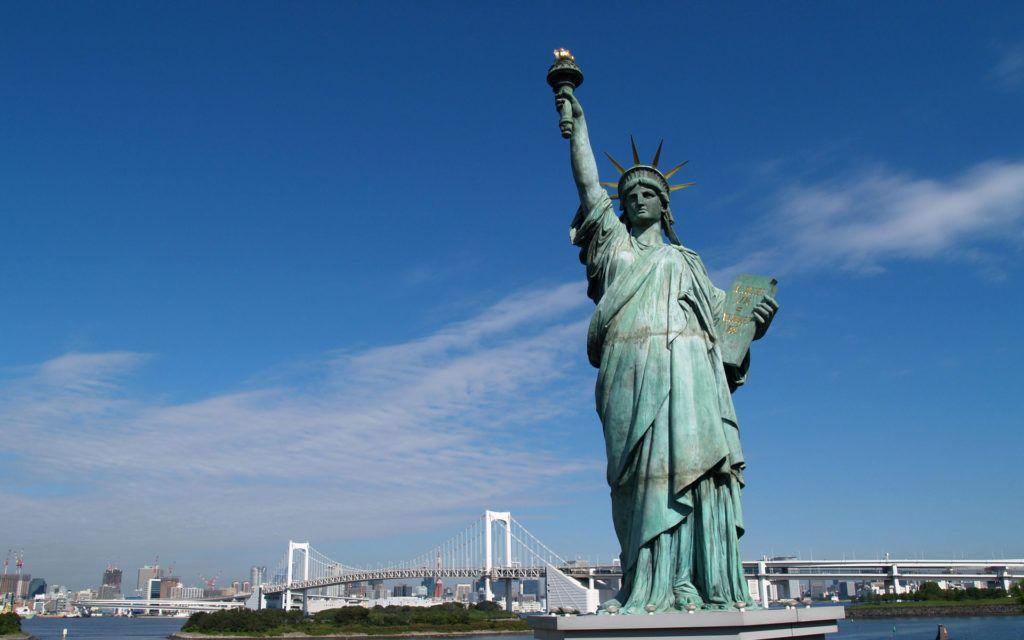 Pohlad na sochu slobody v meste New York