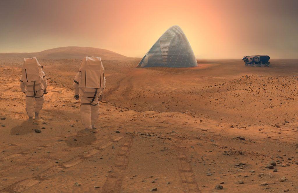 """NASA nedávno spustila súťaž s názvom """"NASA Centennial Challenge Mars Habitat"""" v ktorej bolo úlohou predstaviť obydlie ktoré by mohlo umožniť prieskumníkom prebývať na Marse. Tím Clouds AO, v spolupráci s SEArch, získal prvú cenu s ich Projektom ľadového domu na Marse."""