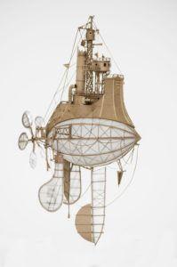 holandsky umelec Jeroen van Kesteren stravil svoj uplynuly rok zhotovovanim imaginarnych vzducholodi z jeho tvorby v danej tematike je zjavne citit vplyv steampunk