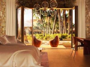 Firma Baharash Architecture je designérom budúceho eko rezortu hotelového komplexu v tvare hviezdy ktorý sa nachádza v Liwe na juhu Spojených Arabských Emirátov Tento projekt s názvom Oasis Eco Resort očakáva svoje otvorenie v roku 2020 a má byť vybavený z takmer 15 000 m2 solárnych panelov