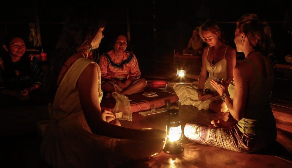 ritual v Iquitose v opojeni ayahuasca