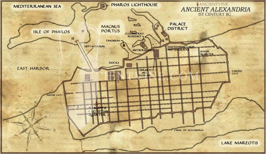 mapa alexandrie