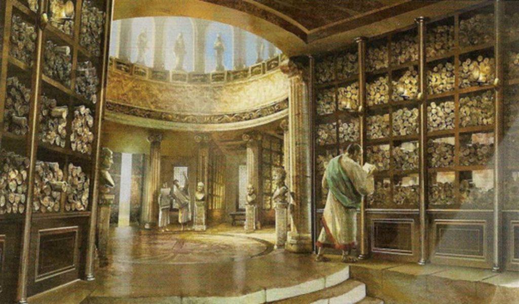 kniznica v alexandriii