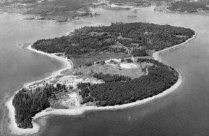 Oak Island ciernobiela fotka