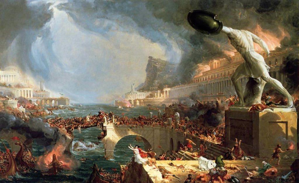 spalenie kniznice v Alexandrii