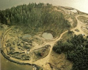 pohlad ostrov Oak Island v Kanade