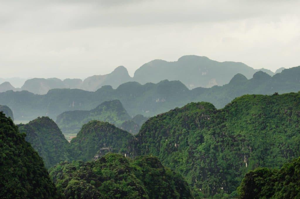 krasne pohoria Vietnamu