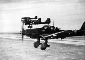 Nemecké bombardéri chystajúce sa napadnúť Stalingrad