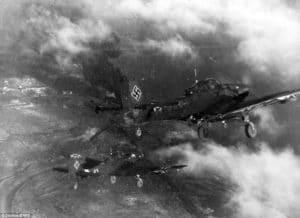 nemecke štuky bombardujú stalingrad