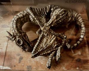 tela mystickych tvorov upirov najdene v pivnici v Londyne