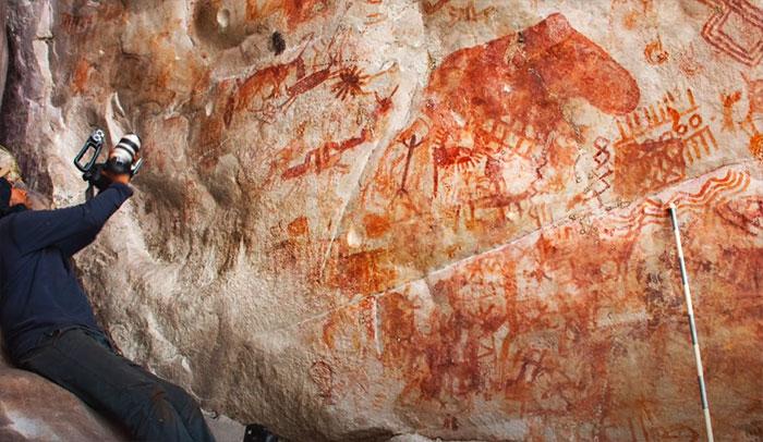 skalne malby v kolumbii na stenach